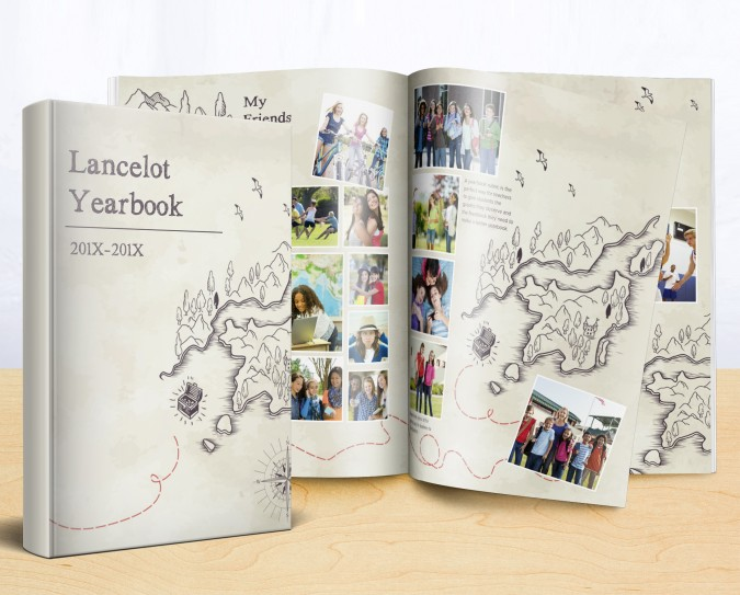 hand-drawn yearbook design
