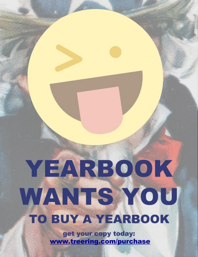 yearbook poster ideas: Uncle Sam-Emoji Mashup