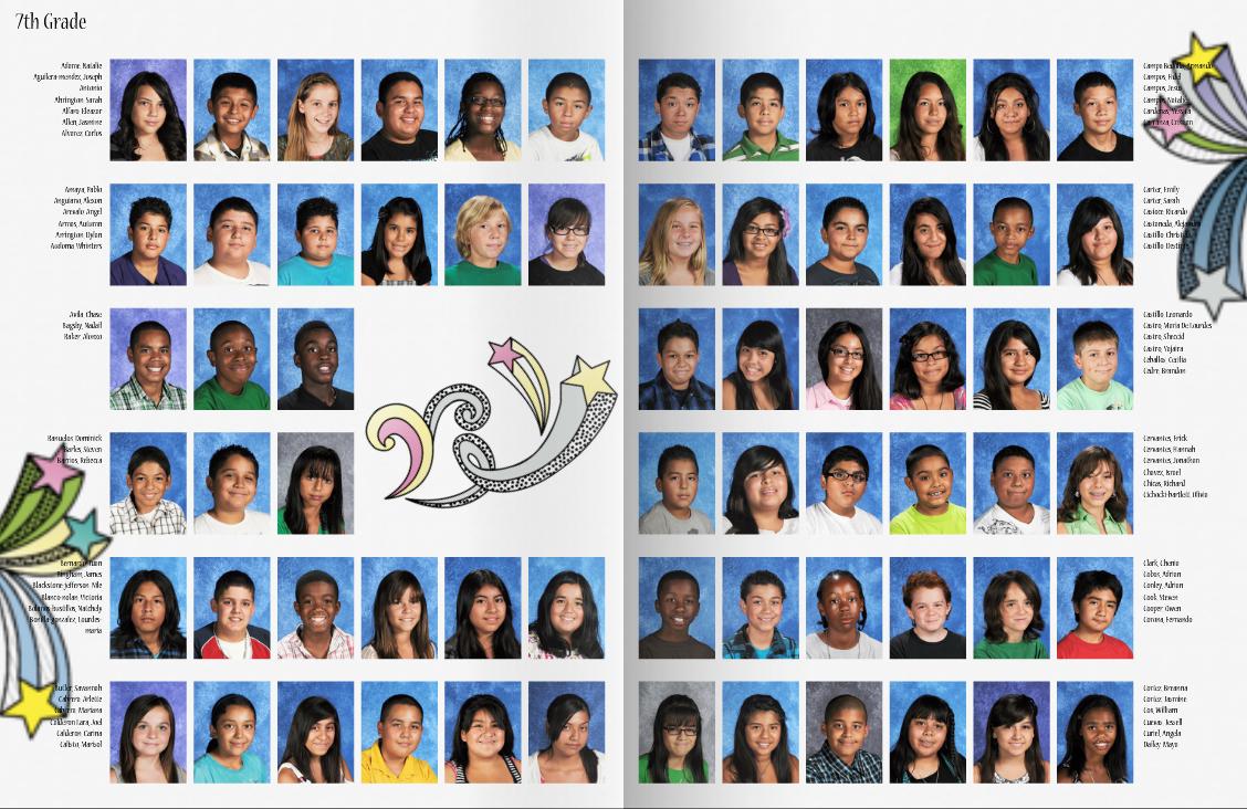 mismatched class portrait pages