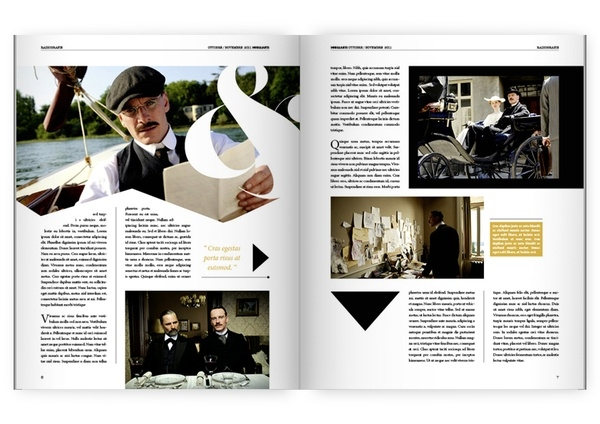 Magazine Inspired Yearbook Page Layouts 4 2 26 16