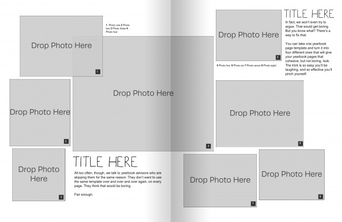 step 2 in creating yearbook layout templates