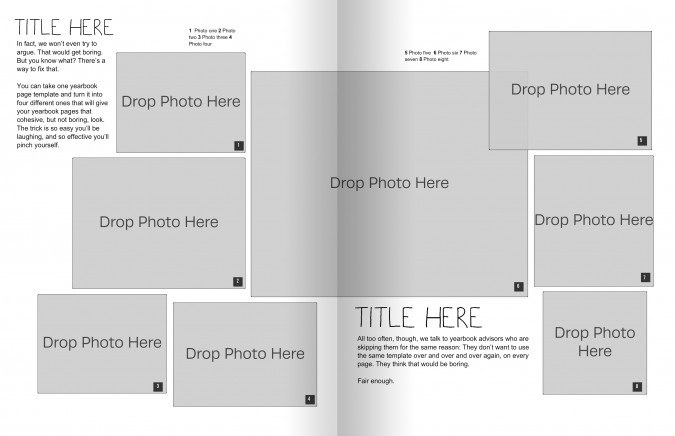 yearbook layout templates from the same master