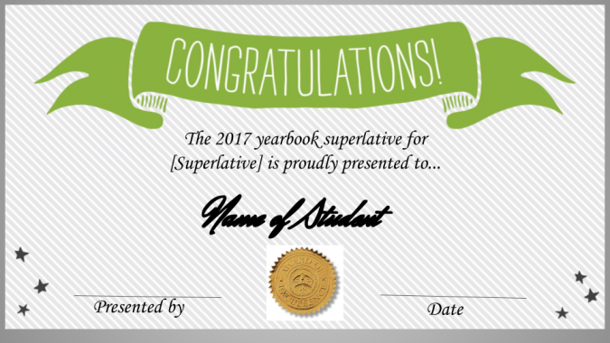 superlatives awards template  We Made a Free Superlative Certificate Template (And How You Can, Too)