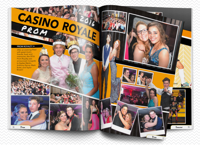 new yearbook spread design for collage pages