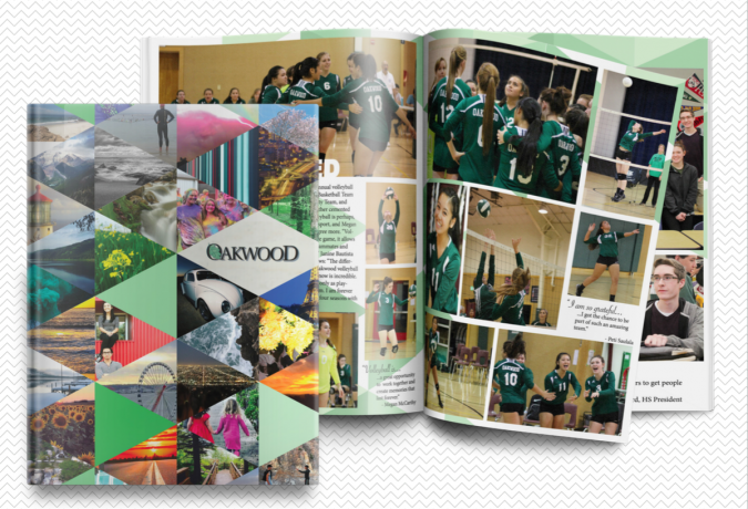 incorporating cover elements into yearbook spread design