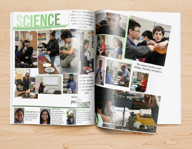 Yearbook Design Ideas for Academic Sections