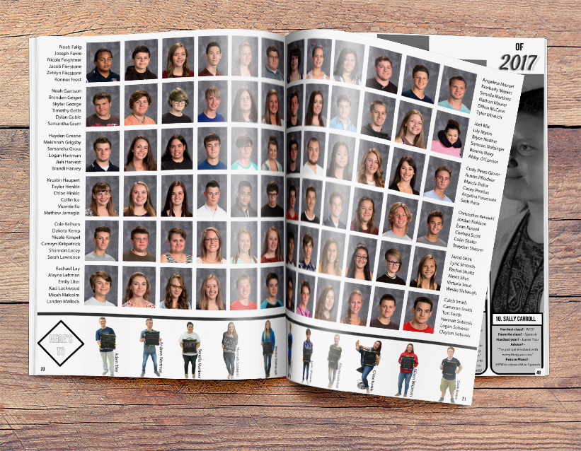 yearbook design ideas for portrait pages - Yearbook Design Ideas