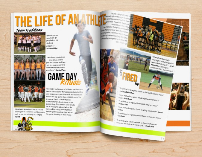 yearbook design ideas for student-focused pages