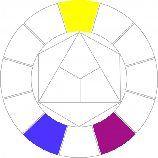 yearbook style guide: color wheel choices