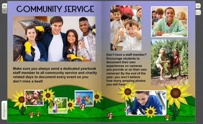 Funny Yearbook Promotion Ideas: Yearbook Pages For Community Service Clubs & Student Field