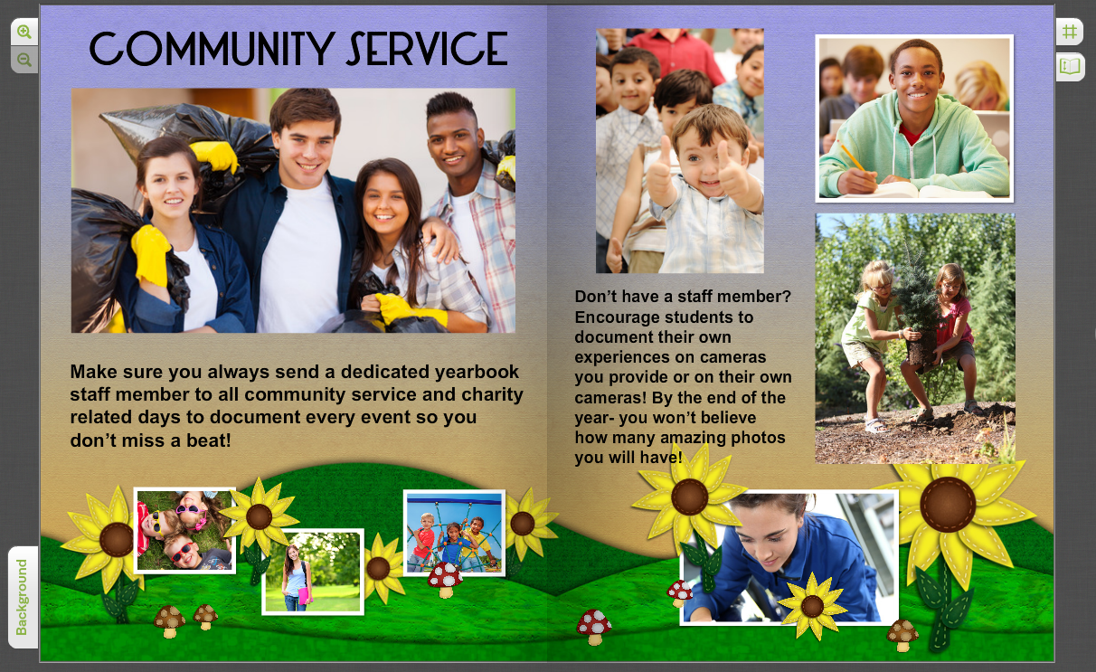 community service - Yearbook Design Ideas