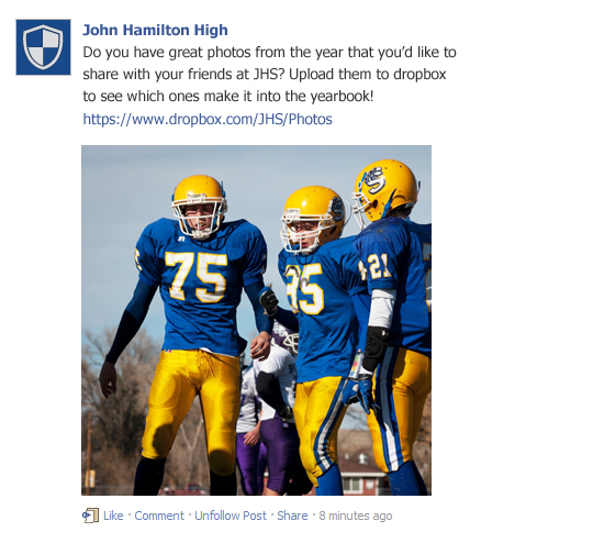 Use Facebook for Crowdsourcing Yearbook Photos