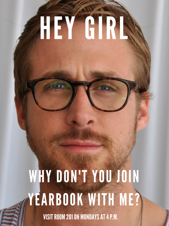 Pop Culture Yearbook Recruiting Poster