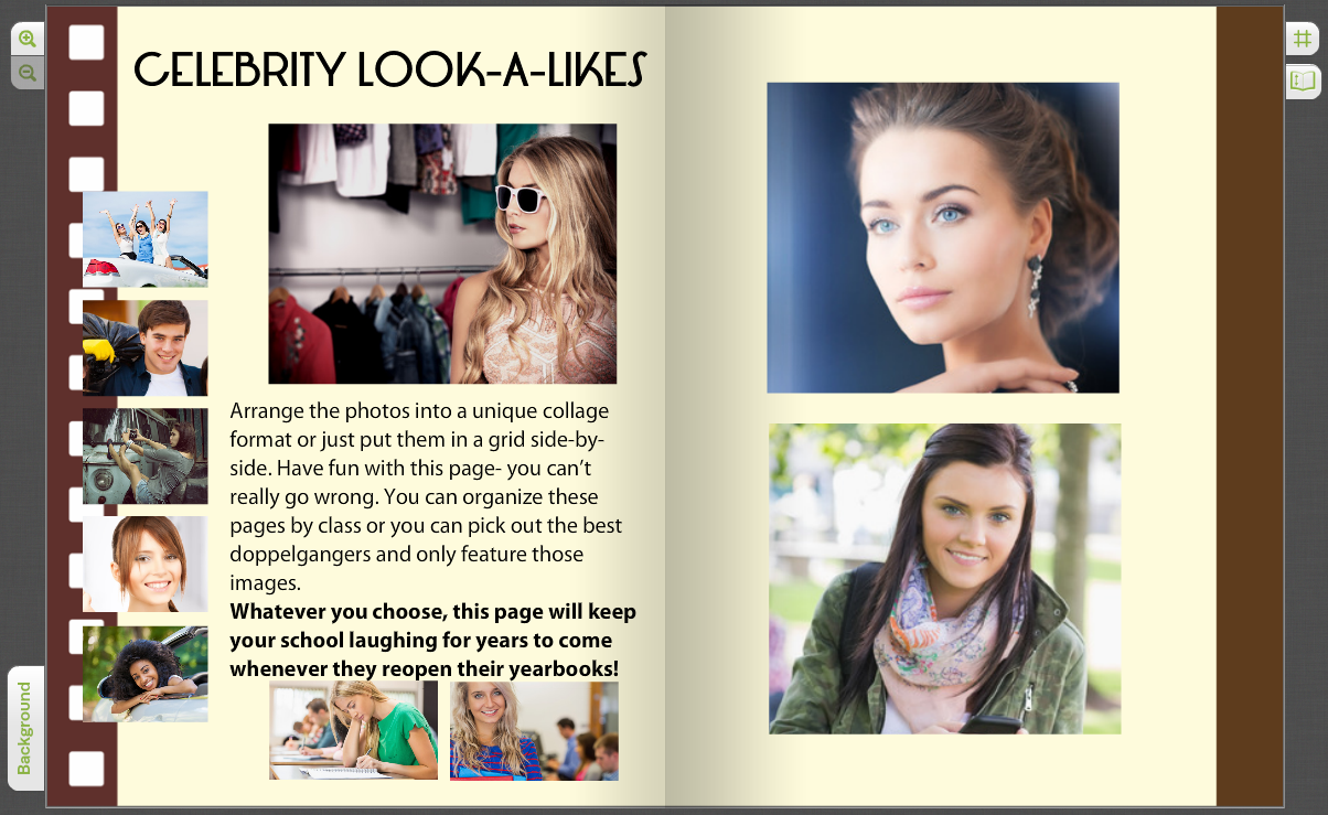 add a look a like page to your yearbook treering