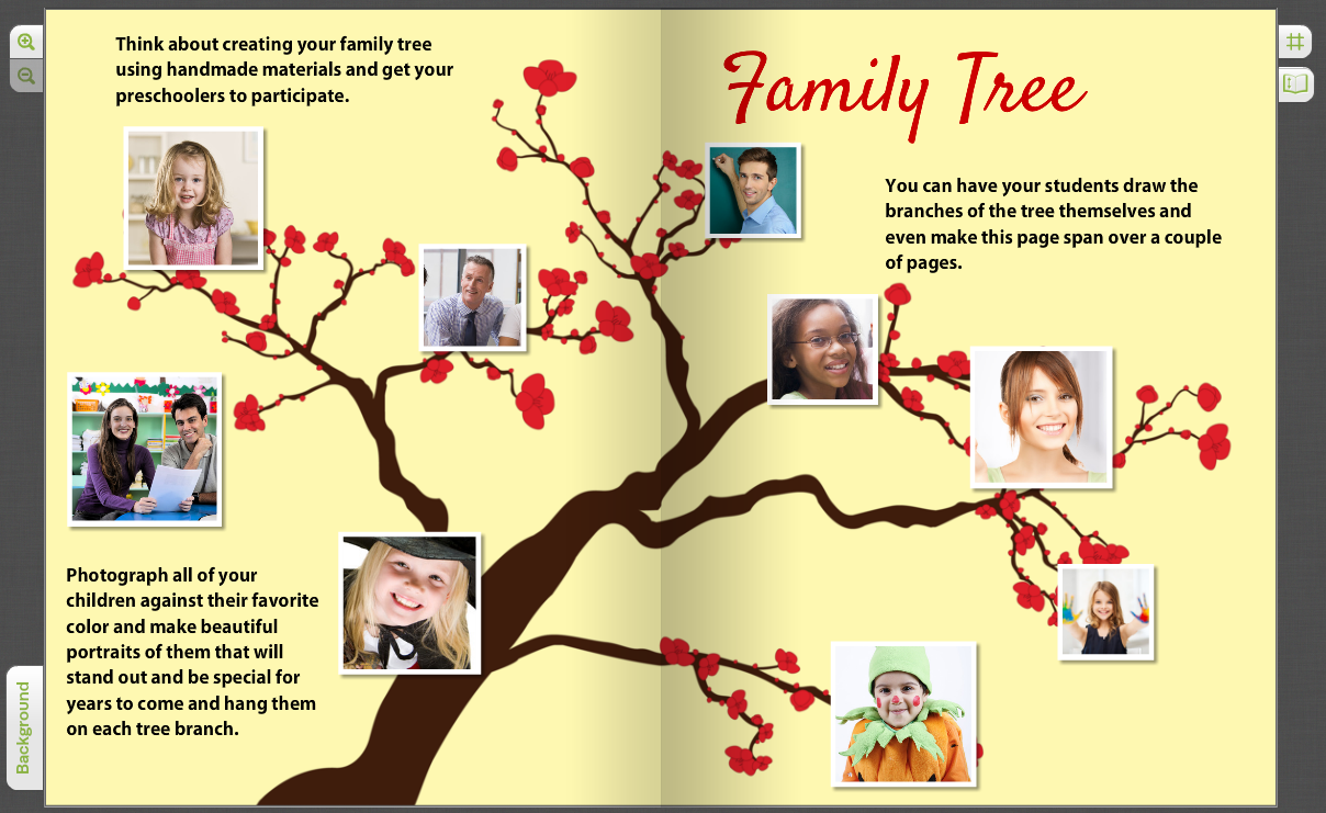 we are family creating a yearbook family tree for pre k students
