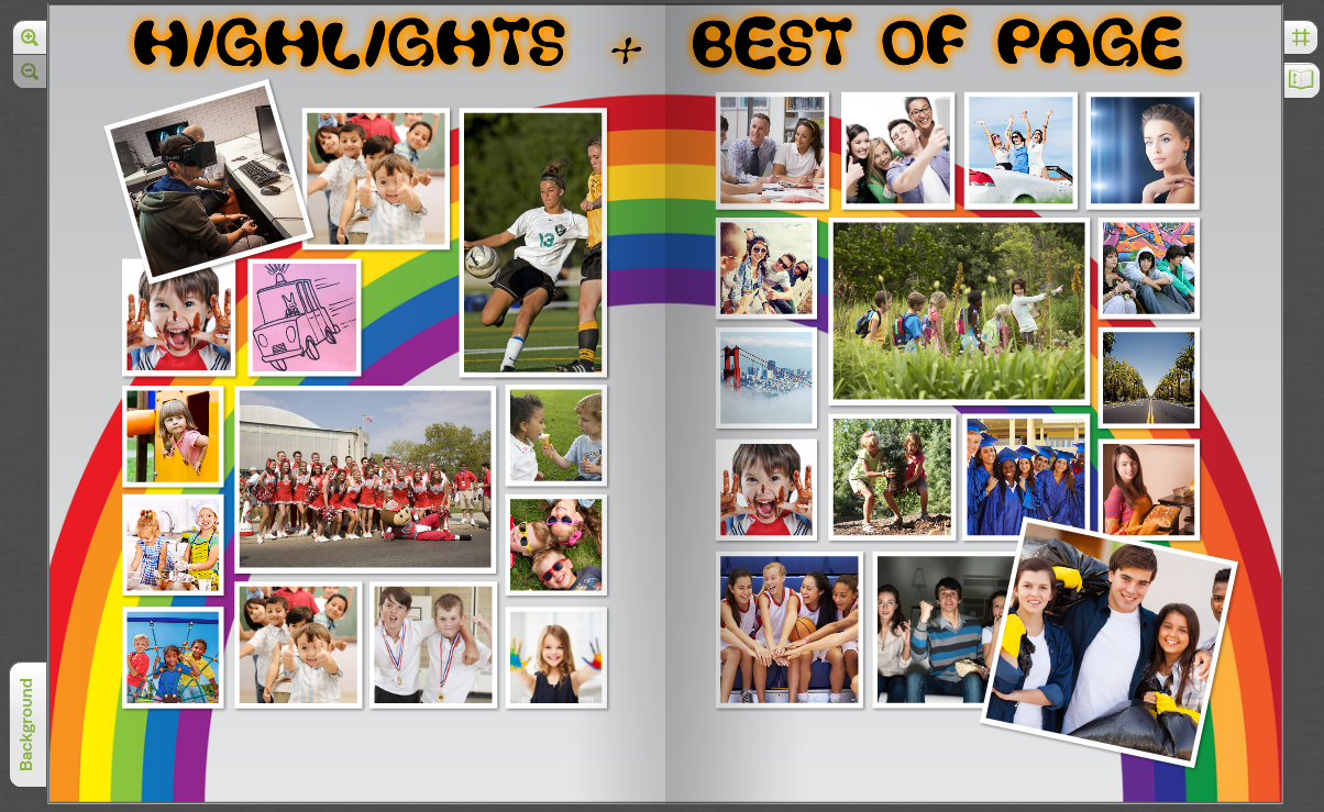 how to create a yearbook theme