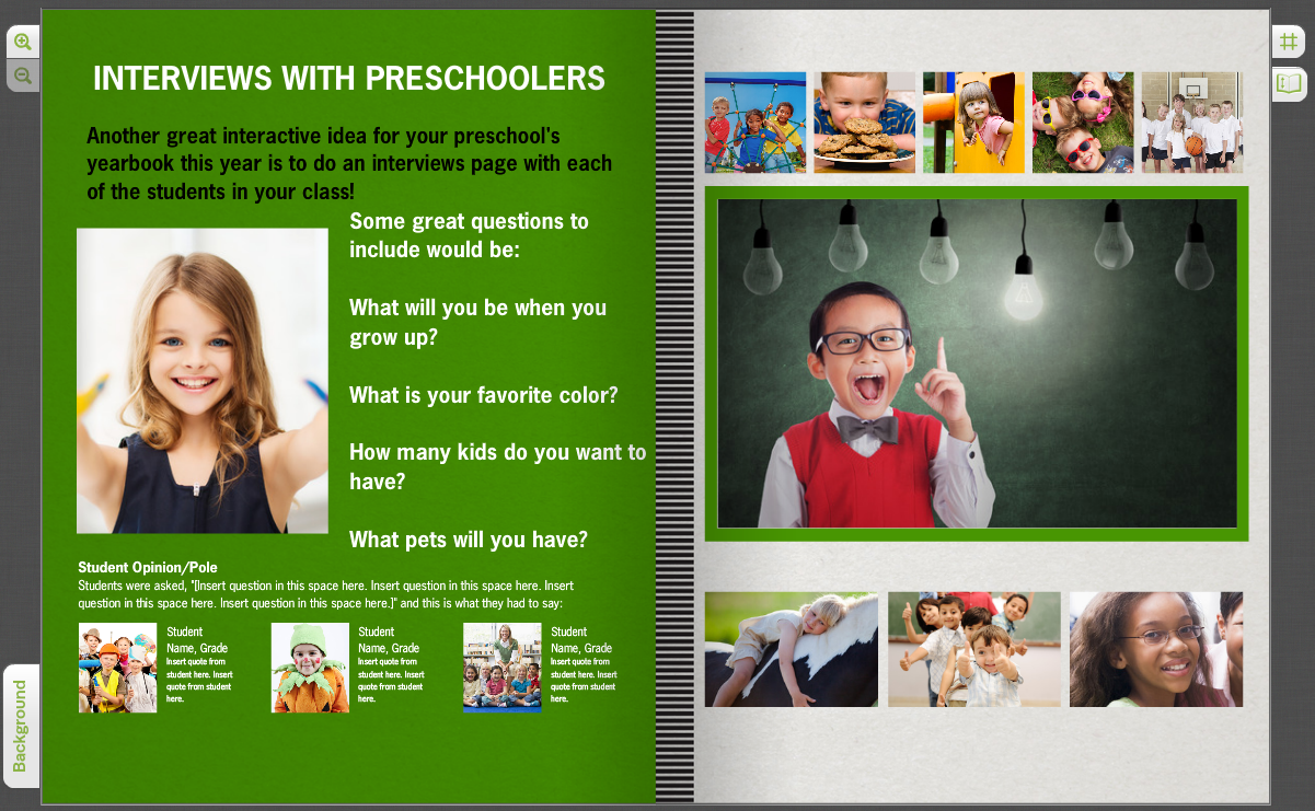 student interviews yearbook quotes on your custom pages treering interviews preschoolers click to enlarge image