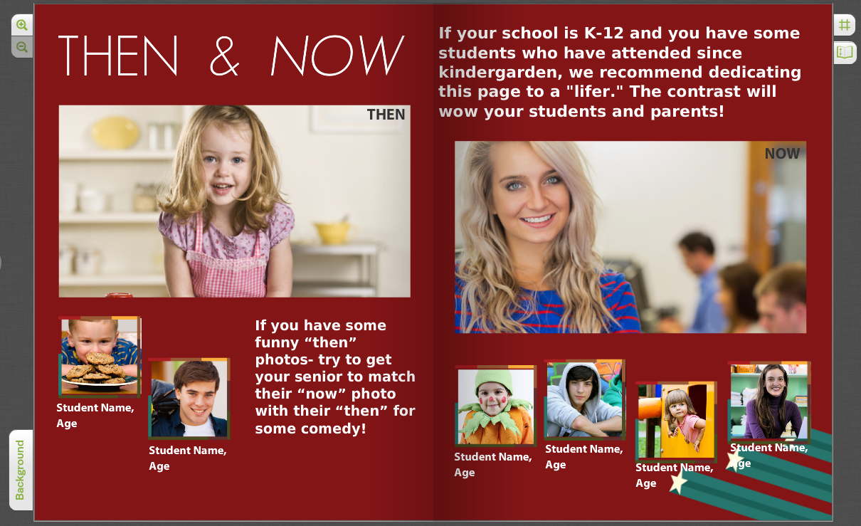 then and now let your yearbook celebrate student growth