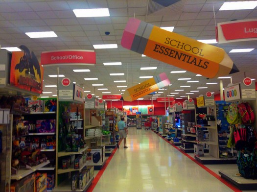 Department stores gear up for back to school in the United States. Photo credit: Flickr CC user Mike Mozart