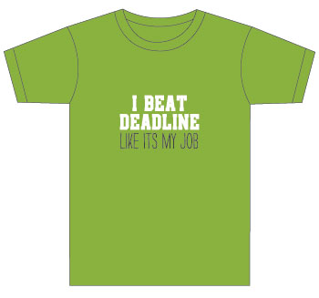yearbook staff t-shirt: i beat deadlines