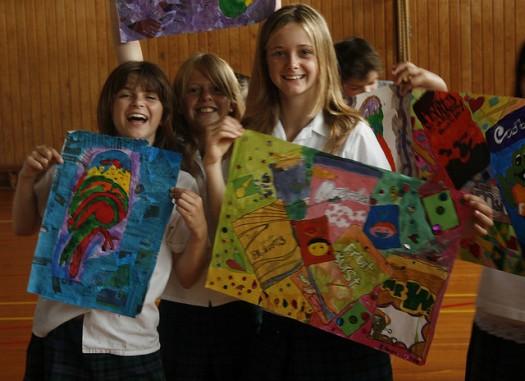 Let your artistic side shine in an art elective class. Photo credit: Flickr CC user Katikati College