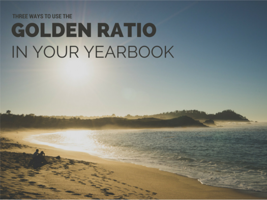 golden ratio yearbook page layouts