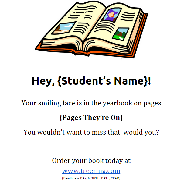 yearbook flyers template