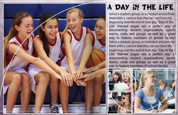 yearbook page layouts golden spiral template